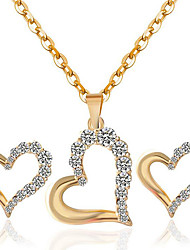 Ожерелье / серьги Мода Стразы Сплав Золотой Белый Ожерелья Серьги Для Для вечеринок Повседневные 1 комплект Свадебные подарки