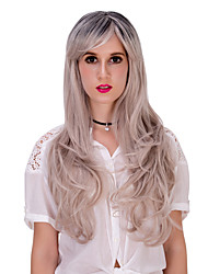 cendres gradient blonds cheveux longs wig.wig lolita, perruque halloween, couleur perruque, perruque de mode, perruque naturelle, perruque