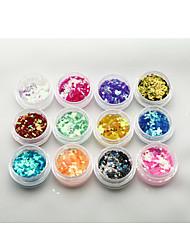 1 Autocollant d'art de clou Bijoux pour ongles Paillettes & Poudre Abstrait Maquillage cosmétique Nail Art Design