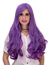 Purple gradient long curly hair wig.WIG LOLITA, Halloween Wig, color wig, fashion wig, natural wig, COSPLAY wig.