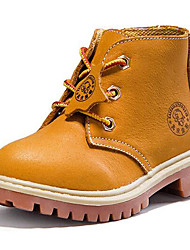 Women's Shoes Nappa Leather Spring / Fall / Winter Combat Boots Boots Outdoor / Casual Chunky Heel Blue / Yellow Sneaker
