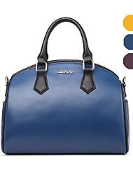 AOVO® Damen Kuhfell Beutel Lila / Blau / Gelb-1413