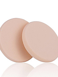 Fenlin ®  NBR Flocking Material Round Shape Foundation Puff Sponge 2 Piece