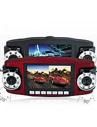viajar registrador de datos / lente dual / hd visión nocturna / grabador de transmisión interior / coche
