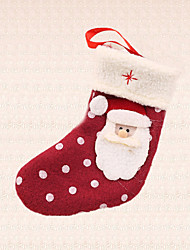 1pc Polka Dot Santa Claus Sock Pendant Christmas Tree Decoration Outdoor Home Party Gift Supplies