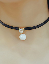 Women's Choker Necklaces Pendant Necklaces Pearl Leather Fashion Adjustable Personalized Jewelry For Daily Casual