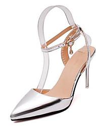 Mädchen-Sneaker-Lässig-PU-StöckelabsatzSilber Grau Gold