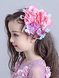 Flower Girl's Fabric / Net Headpiece-Wedding / Special Occasion Flowers / Birdcage Veils 1 Piece