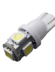 10 pcs T10 blanc 168 194 501 W5W 5 SMD LED côté de la voiture cale lampe à ampoule DC 12V
