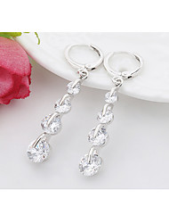 Women Fashion Sterling Silver Pierced Drop Earrings 1 pair