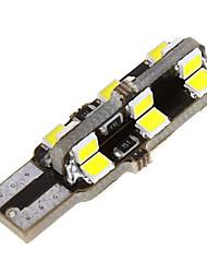 ampoule côté de la voiture coin dôme 2835 voiture blanche de 10pcs t10 LED (DC12V)