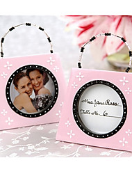 Bridesmaids / Bachelorette Wedding décor Pink mini Photo Frame Table Place card holder