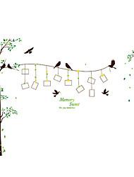 ботанический Наклейки Простые наклейки Декоративные наклейки на стены / Фото наклейки,pvc материал Съемная / Положение регулируется