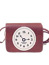 Femme Polyuréthane Décontracté / Shopping Sac à Bandoulière / Etui à Clefs / Porte-Monnaie / Mobile Bag Phone