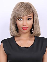 Fashion Medium Bob Style  Hair Straight Side Bang Capless Women's Human Hair Wig