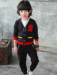 Boy's Casual/Daily Print Sweater & Cardigan,Cotton Fall Black