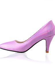 Women's Shoes PU Summer / Fall / Winter Heels Boots Outdoor / Dress / Casual Kitten Heel Others Purple / Red / Silver