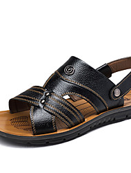 Men's Sneakers Summer Flats Leather Outdoor / Casual Flat Heel Others Black / Brown / Yellow Others