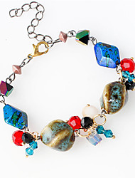 Strand Bracelets 1pc,Assorted Color Bracelet Fashionable Circle 514 Agate Jewellery