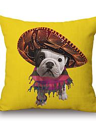 PC Algodón/Lino Cobertor de Cojín,Estampado Animal Novedad Con Texturas Casual Moderno/Contemporáneo Detalle Decorativo