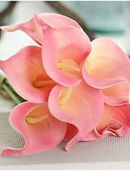 """Bouquets de Noiva Forma-Livre Peônias Decorações Festa / noite Poliéster 2.36""""(Aprox.6cm)"""