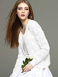 Mara Carol® Women's Round Neck Long Sleeve Sweater & Cardigan Blue / White / Pink-1620109