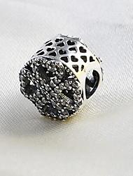 DIY Bracelets Charm 1pc,Silver Bracelet Vintage Round Sterling Silver Jewellery