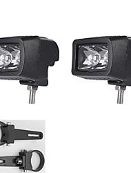 "1.75"" A pair Mounting Brackets + 10W LED Light Bar Spot ATV SUV Truck Driving lamp"