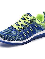 Femme-Décontracté-Bleu / Vert / Orange-Talon Plat-Confort-Sneakers-Tissu
