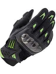 Carbon Fiber Leather Breathable Mesh Fabric Racing Gloves Motorcycle Riding Protective Gloves