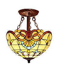 Baroque style with 2 Lights For Tiffany Half pendant lamp