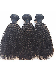 "3pcs/lot 8""-28""Mongolian Virgin Hair Kinky Curly Afro Curly Human Hair Weft Weft Kinky Curly Hair Extension"
