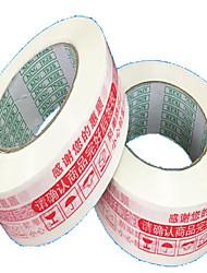 avertissements rouges étanchéité impression couleur de la bande d'étanchéité largeur de bande 4.8cm * épaisseur 2.5cm /