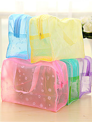 Waterproof Transparent Bath Bag Cosmetic Bag Portable Travel Bathroom Finishing