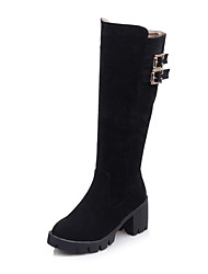 Women's Boots Winter Platform / Riding Boots / Fashion Boots / Bootie / Combat Boots / Round Toe Patent Leather /