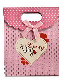 lazo rosa bolsas de regalo de amor pegado bolsa de regalo boutique de velcro punto de venta al por mayor un paquete de cinco