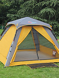 SHAMOCAMEL 3-4 persons Tent Double Automatic Tent One Room Camping Tent >3000mm Polyester Nylon OxfordUltraviolet Resistant Rain-Proof