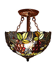 Purple Grape Shade with 2 Lights For Tiffany Half pendant lamp