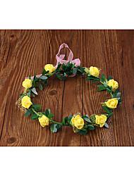 Women's Resin Headpiece-Wedding Wreaths 1 Piece Purple / Blue / Pink / Red / White / Yellow Flower