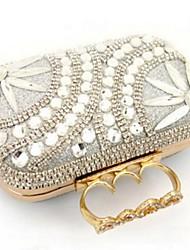 Damen Andere Lederart Alltag Unterarmtasche Schwarz Silber Golden