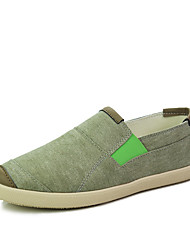 Fashion Trend Men's Casual Breathable Fabric Canvas Loafers with Flower Pattrens for Daily Life/Trip/Walking