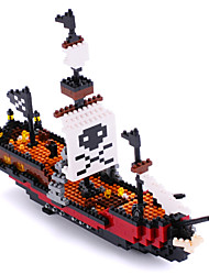 Otulet Pirate Ship Boat Nano Building Blocks Diamond Building DIY Set Parent-child Games Educational Toys