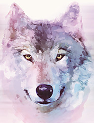 JAMMORY 3XL(14'7''*9'2'')3D Wallpaper For Home Contemporary Wall Covering Canvas Material Color Wolf