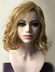 Blonde Color Long Curly Wigs Capless Synthetic Wigs For Women