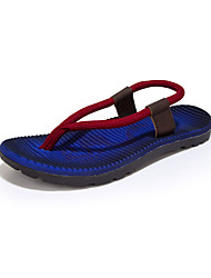 Men's Slippers & Flip-Flops Summer Flats Linen Casual Flat Heel Braided Strap Red / Royal Blue / Khaki Others