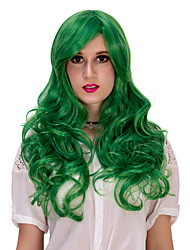 The green long curly hair wig.WIG LOLITA, Halloween Wig, color wig, fashion wig, natural wig, COSPLAY wig.