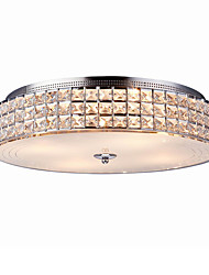40W Flush Mount ,  Modern/Contemporary Chrome Feature for Crystal Metal Living Room / Bedroom / Entry