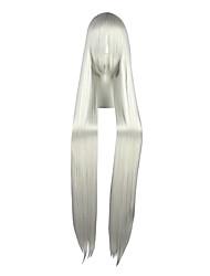 Perucas de Cosplay Trinity Sete Switzerland Vash Zwingli Prateado Extra Longo / Reto Anime Perucas de Cosplay 120 CMFibra Resistente ao