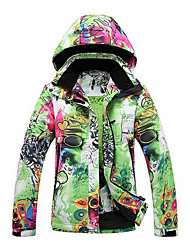 Ski Wear Ski/Snowboard Jackets Women's Winter Wear Polyester Winter Clothing Thermal / Warm Windproof WearableCamping / Hiking Snowsports