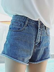 Pantalon Aux femmes Short / Jeans Punk & Gothique Coton Non Elastique